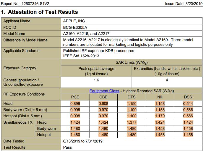 iphone-11-pro-sar-levels-fcc-report-apple-model-a2160-a2216-a2217-fccid-bcg-e3305a