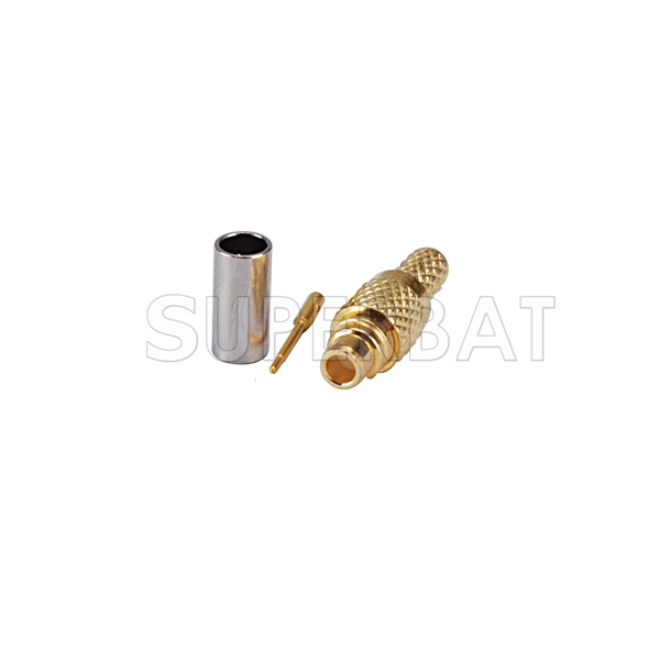 MMCX connector male straight crimp for RG316 cable