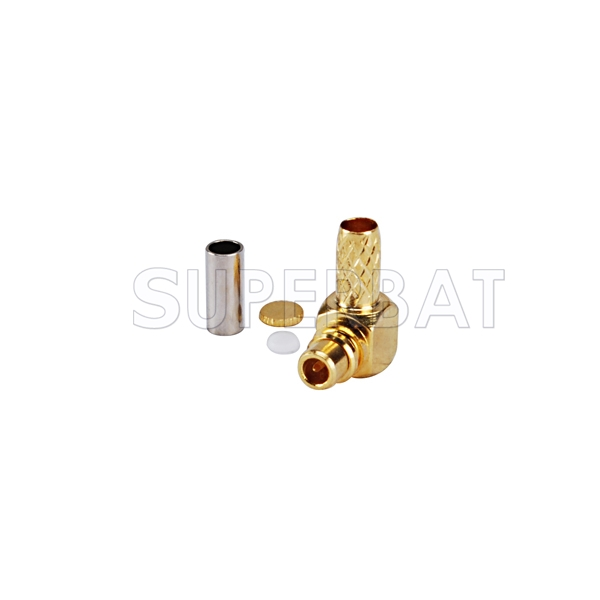 MMCX male right angle rf connector Male Crimp for RG178
