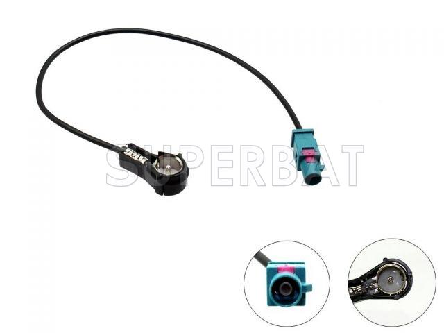 CAR Radio/Stereo FAKRA Z Plug TO ISO Male RA Aerial ARIEL