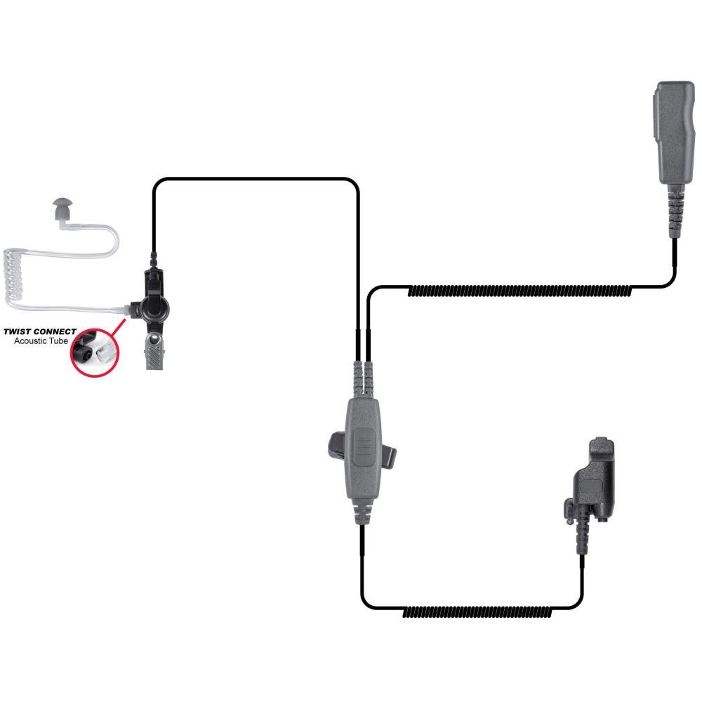 medium resolution of spm 2000l 2 wire surveillance style lapel microphone