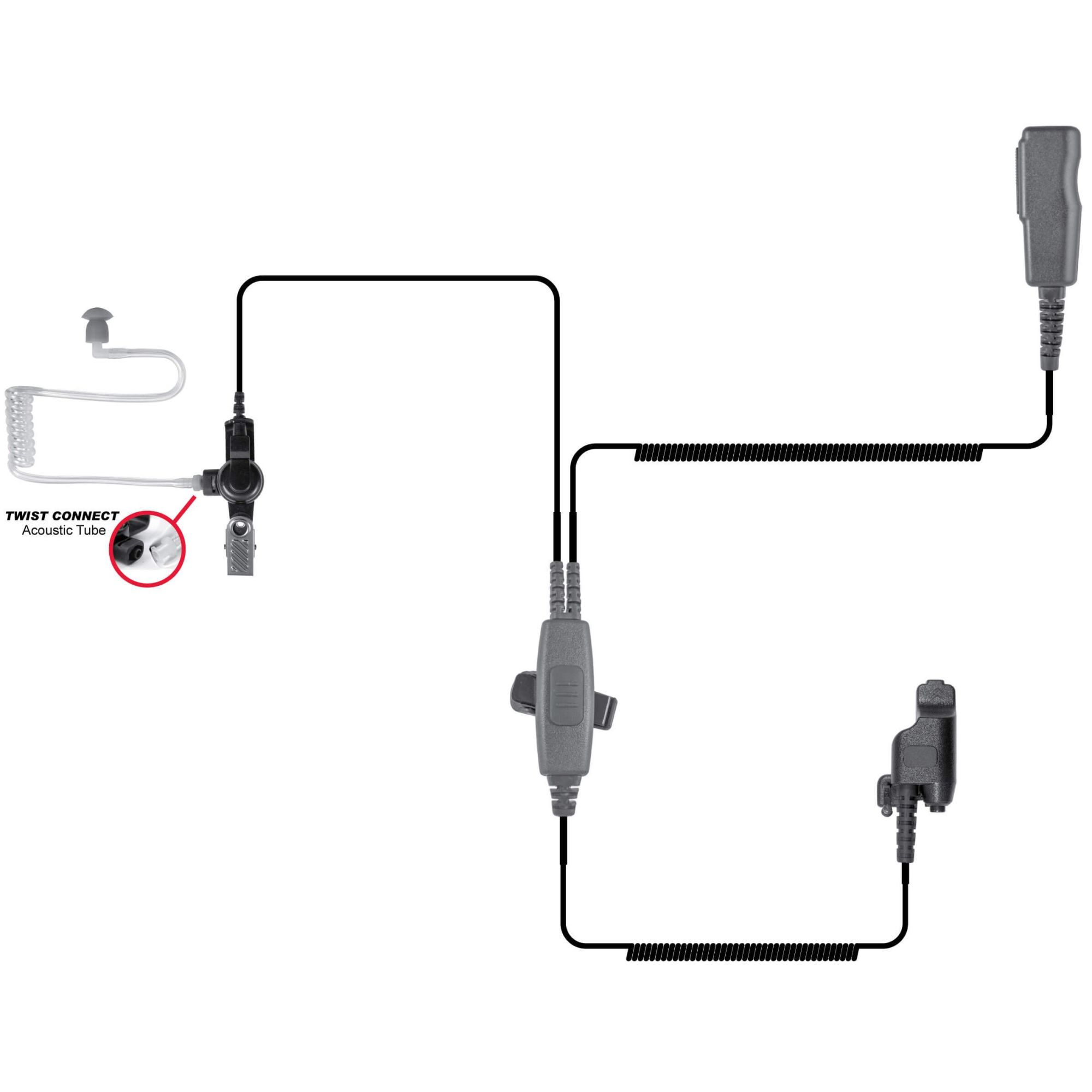 hight resolution of spm 2000l 2 wire surveillance style lapel microphone