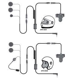 spm 842b highway series in helmet motorcycle mic and speaker kit [ 2724 x 2724 Pixel ]