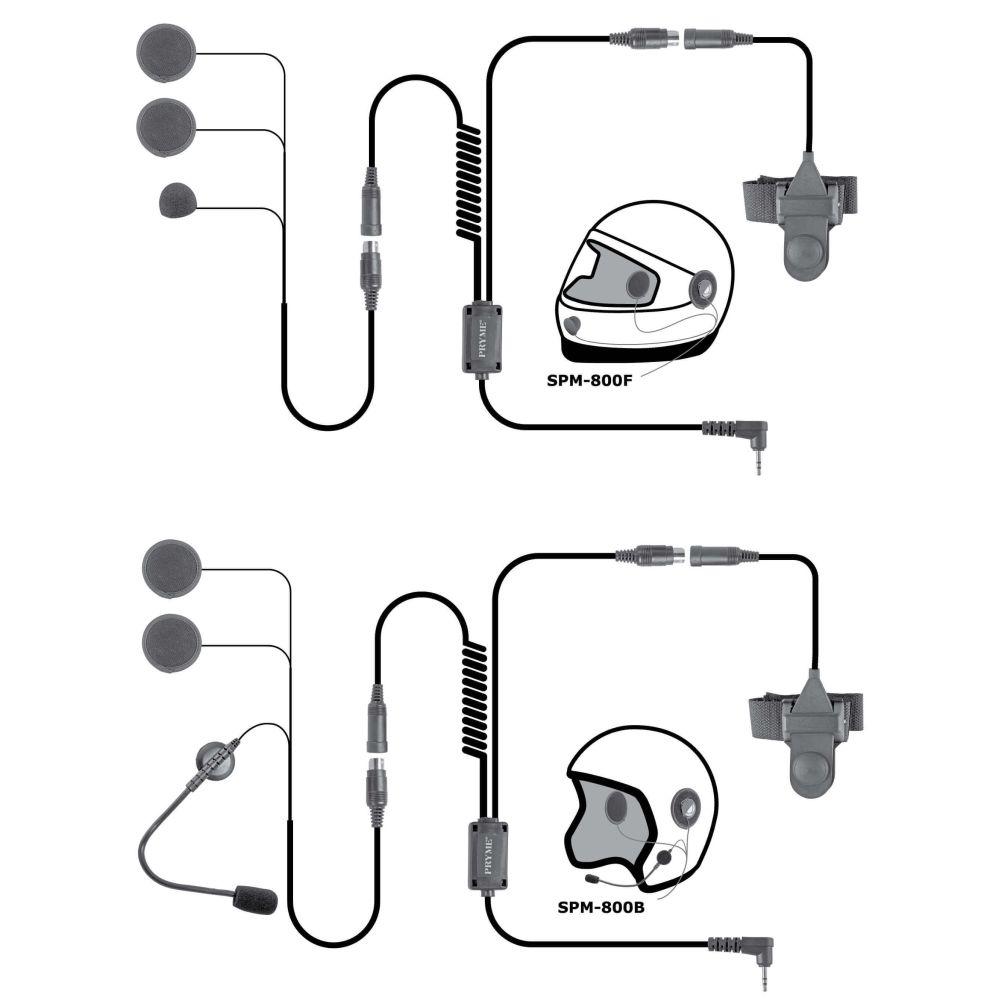 medium resolution of spm 842b highway series in helmet motorcycle mic and speaker kit
