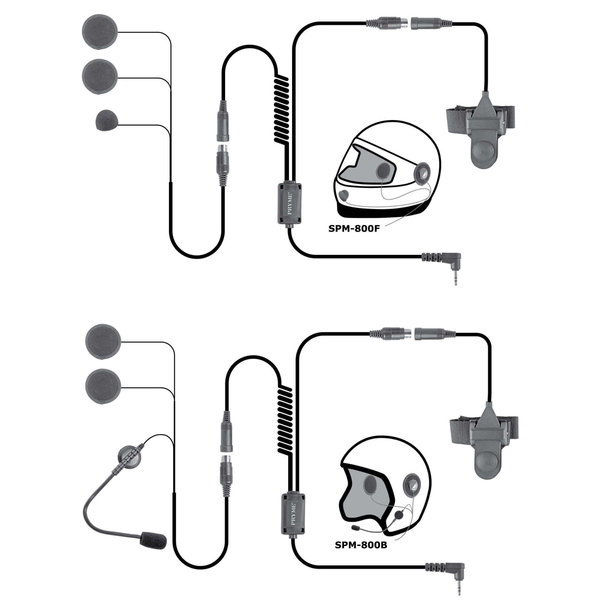 hight resolution of spm 842b highway series in helmet motorcycle mic and speaker kit