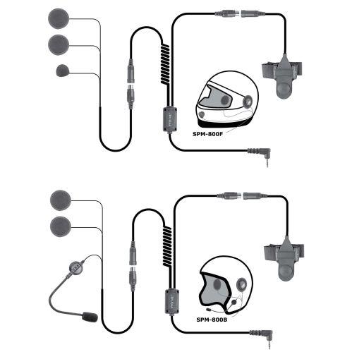 small resolution of spm 842b highway series in helmet motorcycle mic and speaker kit