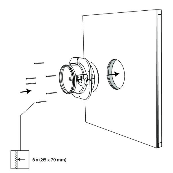 Circular surface-mounted fire damper 60'