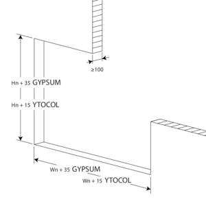 Large-format rectangular linear bar grill 120'.