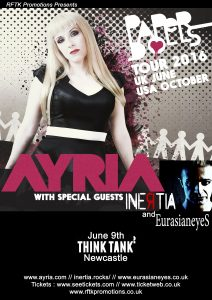 ayriaposter 212x300 - Ayria / Inertia return for co-headline show with special local guests