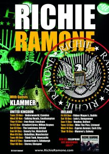 Richie Ramone Dec 2016 Tour Poster