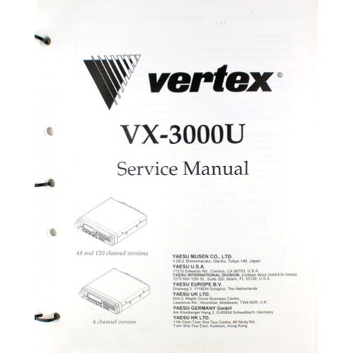 E08359000 VX-3000U Paper Service Manual for the Vertex