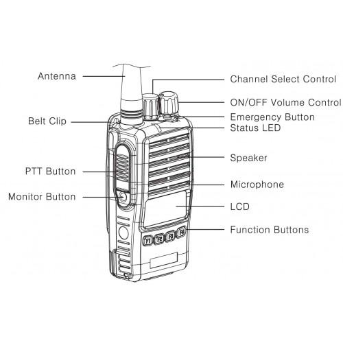 TP-8402 Maxon UHF 512 Ch 5/2 Watt 400-470 MHz Portable Two