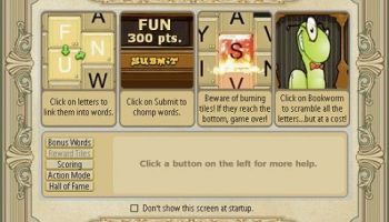 Play Bookworm Online Free and a Full PopCap Games List