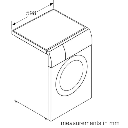 BOSCH WVG30462GB, 7kg Washer / 4kg Dryer with 1500rpm in