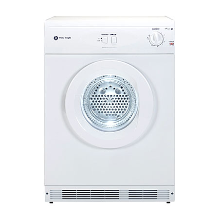 White Knight C44A7W. Freestanding 7kg Reverse Vented Tumble Dryer