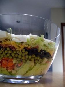 2,3ヶ月前に作ったサラダの写真。微妙に材料が違うけど、こんなカンジっていうのが伝われば。。。