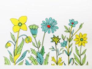 花柄のクローズアップ。自分のポートフォリオサイトデザインに使おうかな♪