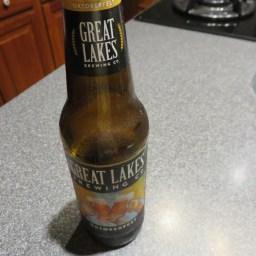 オクトバーフェストの季節ですね〜。お友達の和菓子教室が楽しくて、その余韻に浸りながら一人晩酌♫ ビールは地ビールのGreat Lakes Brewing Co.