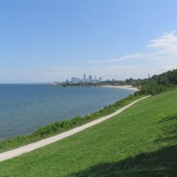 こちらもEdgewater Park. クリーブランドの町が一望できます。