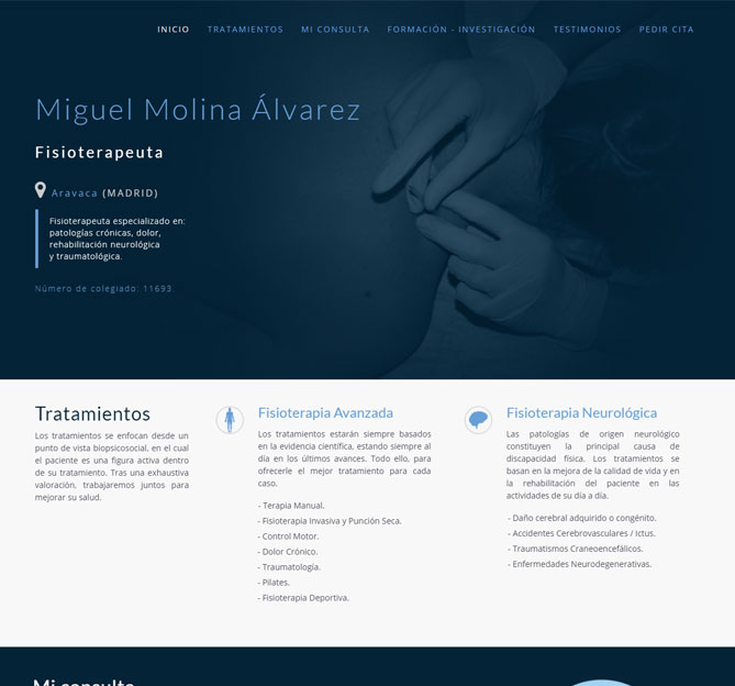 Fisioterapeuta Miguel Molina Álvarez