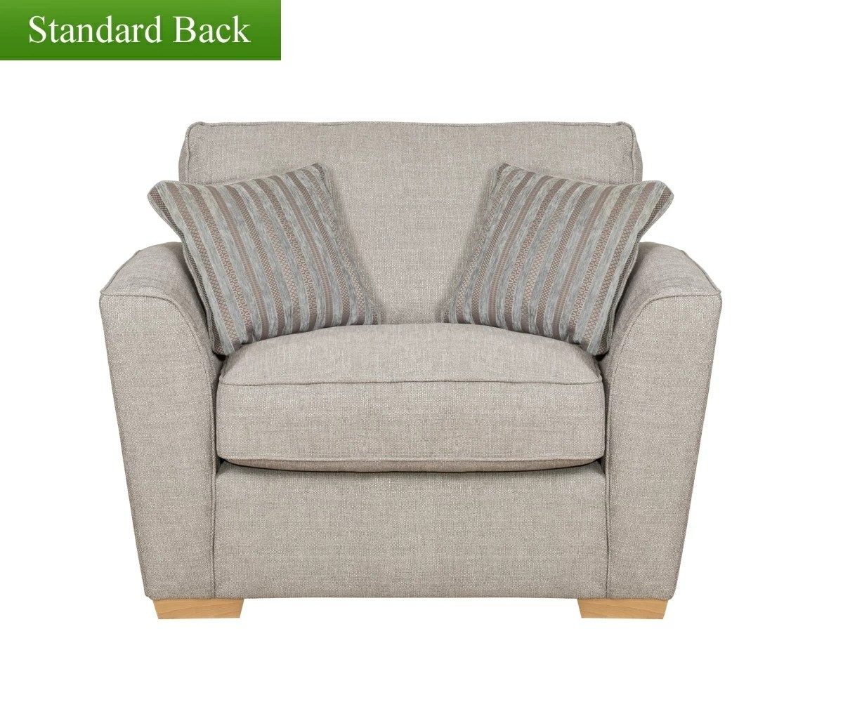 pewter chair white fabric buoyant fantasia love - | rg cole furniture limited