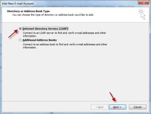 Outlook Zimbra LDAP 02