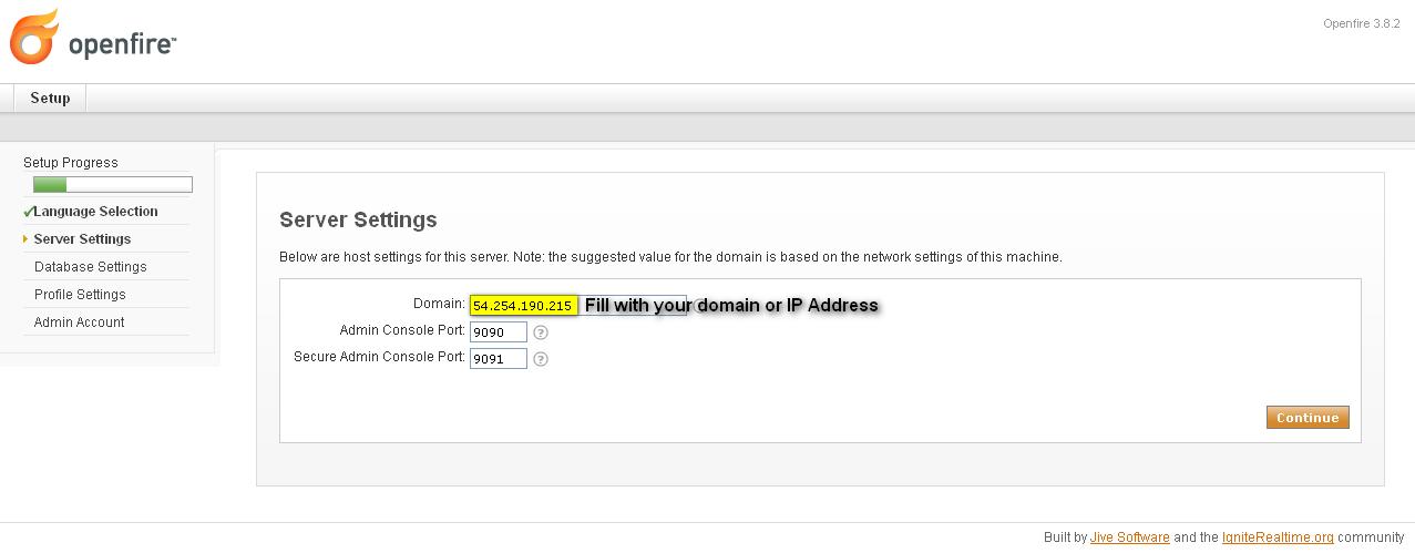 Openfire 3 8 2 on CentOS 6 4 (64bit minimal) - 2