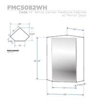 Fresca FMC5082WH Coda 14 Inch White Corner Bathroom ...