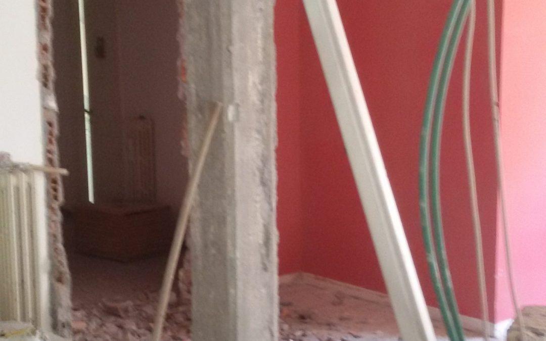Nuovo cantiere di ristrutturazione completa di un appartamento nel quartiere Talenti a Roma