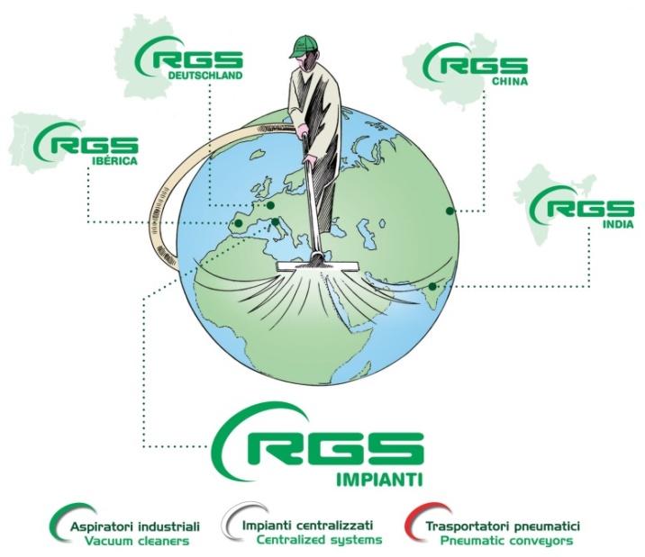 RGS impianti centralizzati aspirazione aspiratori industriali trasporto pneumatico