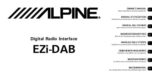 Alpine EZi-DAB + KAE-220DA Ricevitore DAB Universale