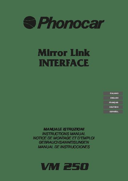Phonocar VM250 interfaccia MirrorLink Wi-Fi Android Apple