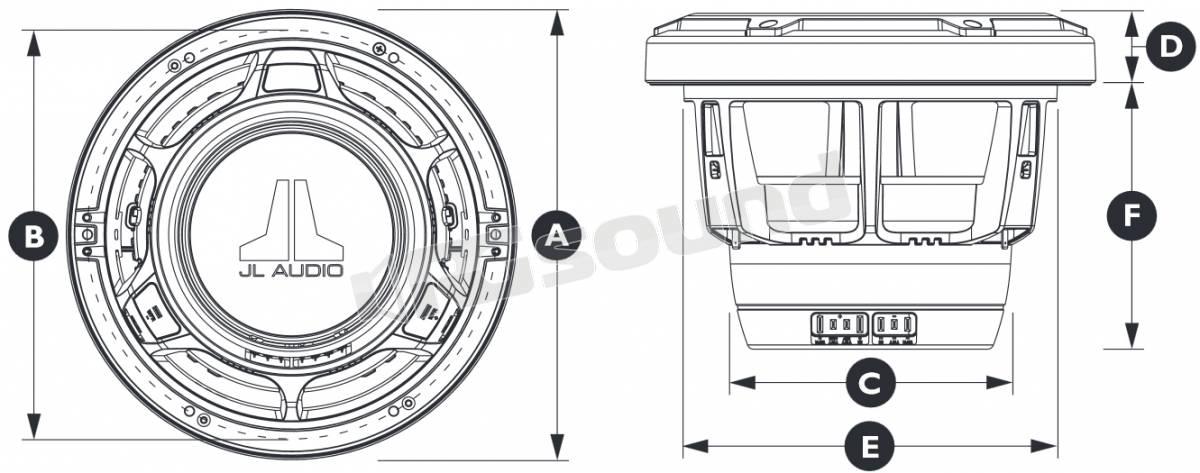 JL Audio M880-CCX-CG-WH coassiali marini a due vie 224 mm