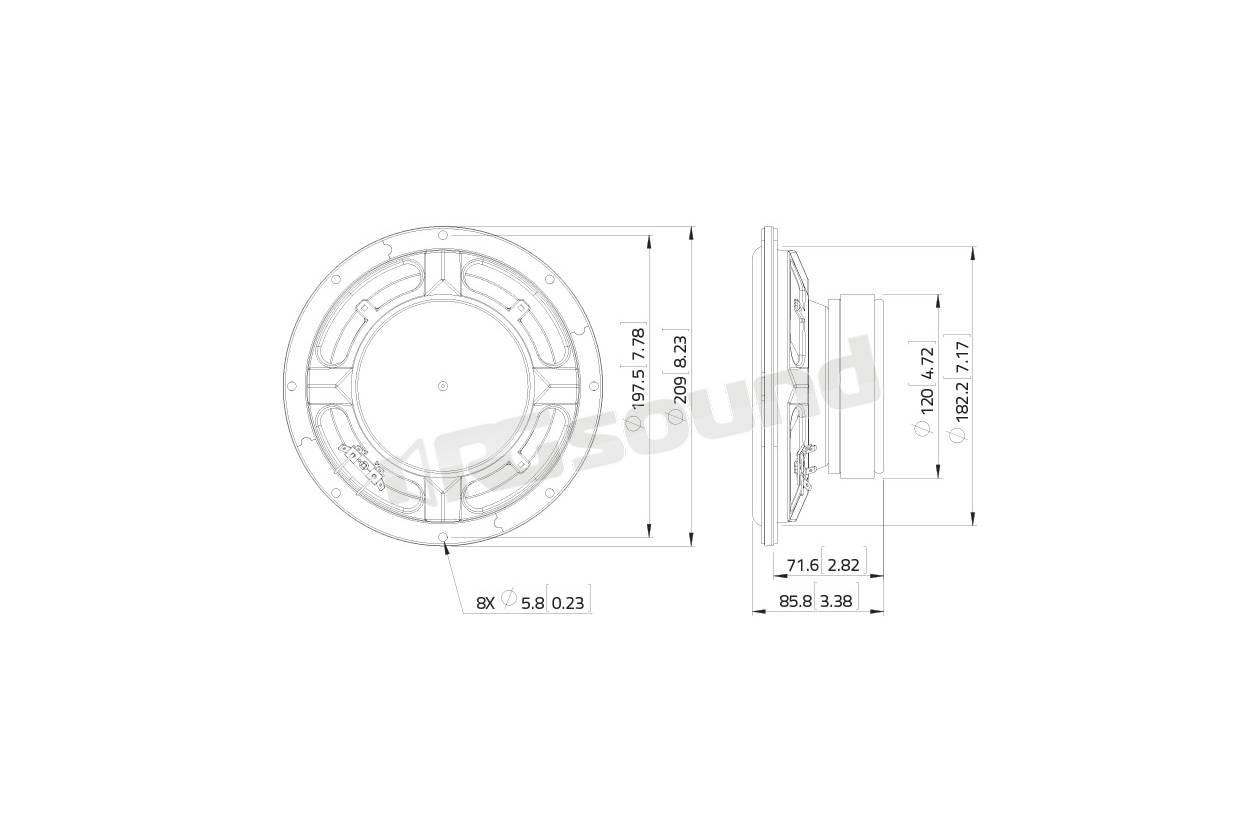 Lavoce Ssf081 50 Subwoofer 200mm 8 Pollici