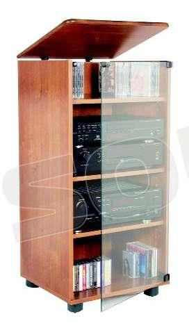 Prandini 947 mobile finitura noce porta tv e hifi