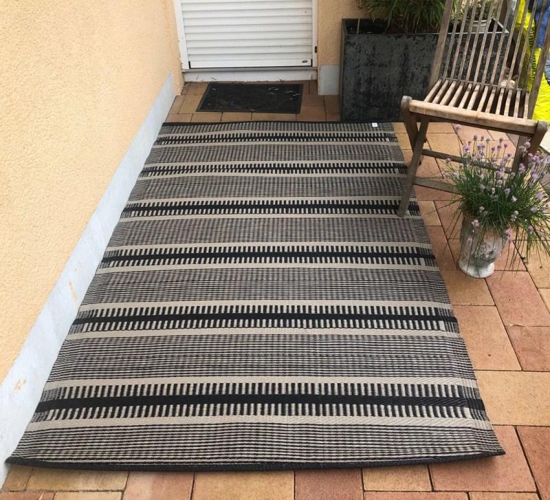 Outdoor Teppich Sarawat Schwarz Braun 120x180cm