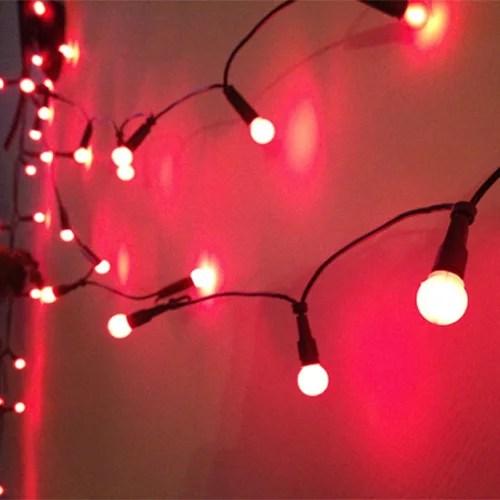 50 Rote Lichterkette