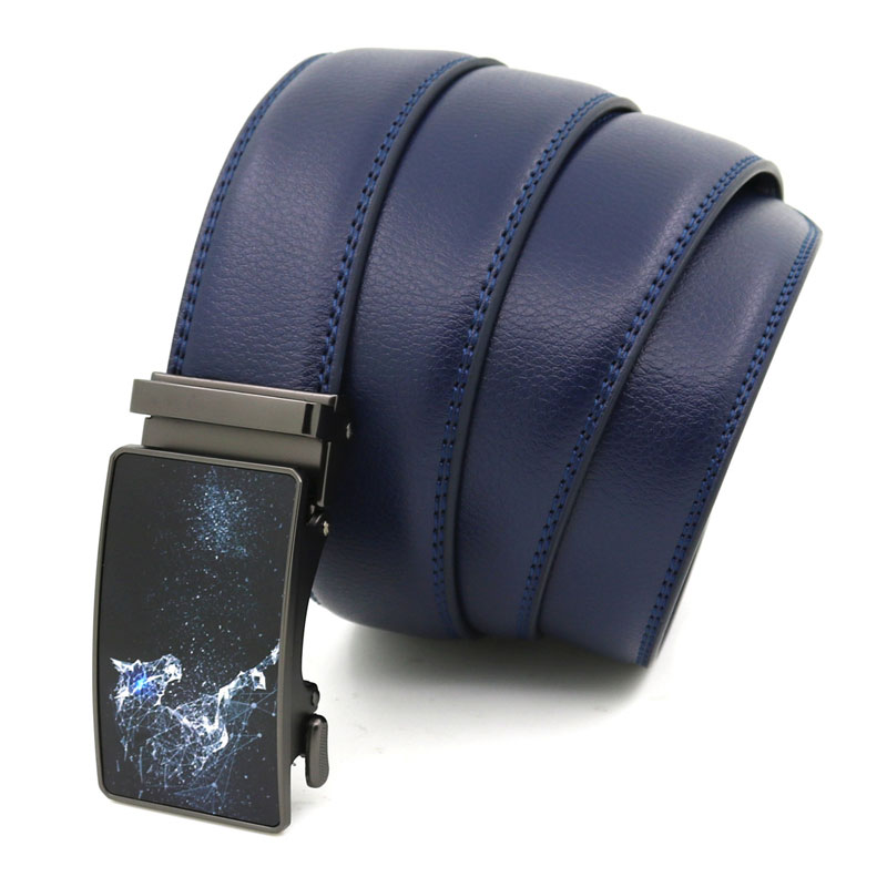 lederguertel-automatik-pferd-blau