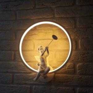 Wandlampe Wandleuchte Innenlampe Engel mit Geige