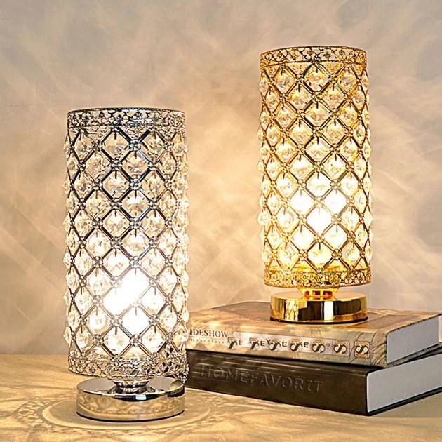 kristall tischlampe nachttischlampe