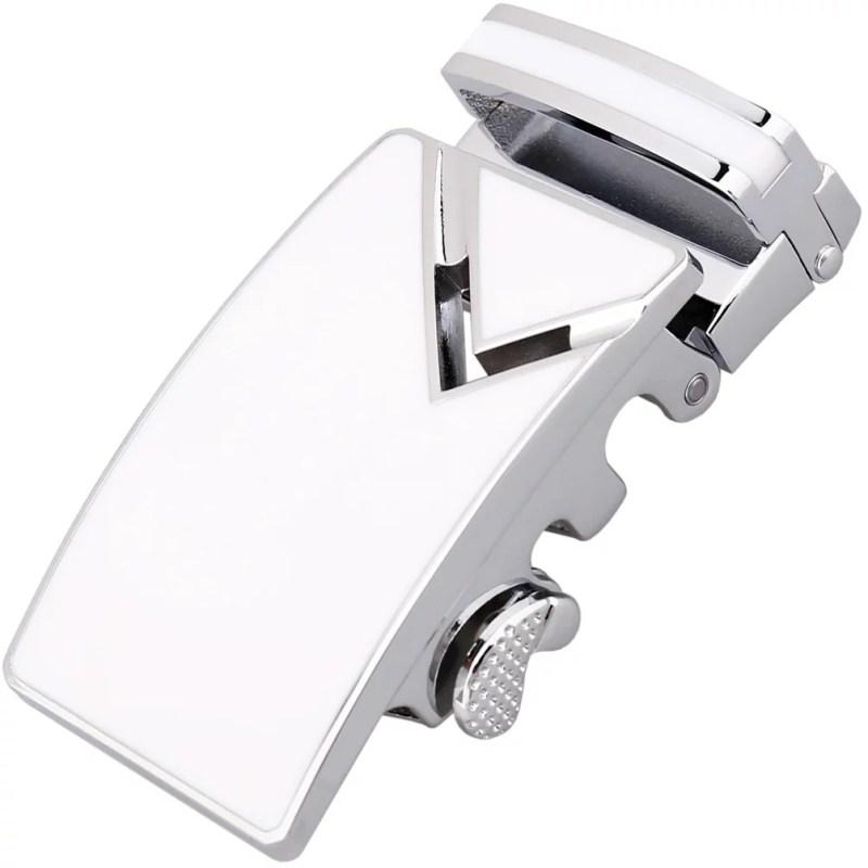 Herrengürtel mit Automatik Gürtelschnalle Weiß Dieter