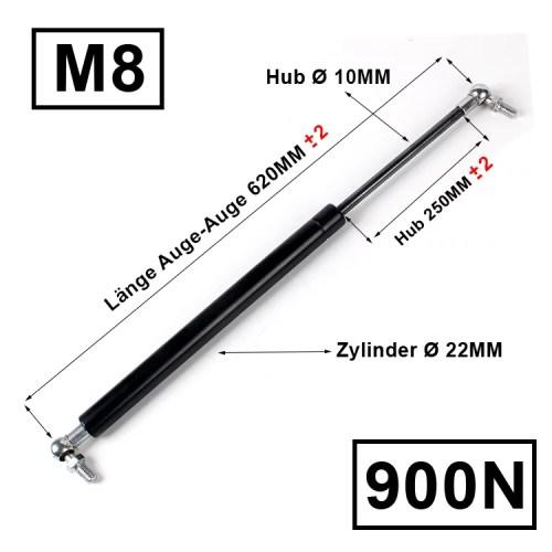 Universal Gasdruckfeder 620-250-900N