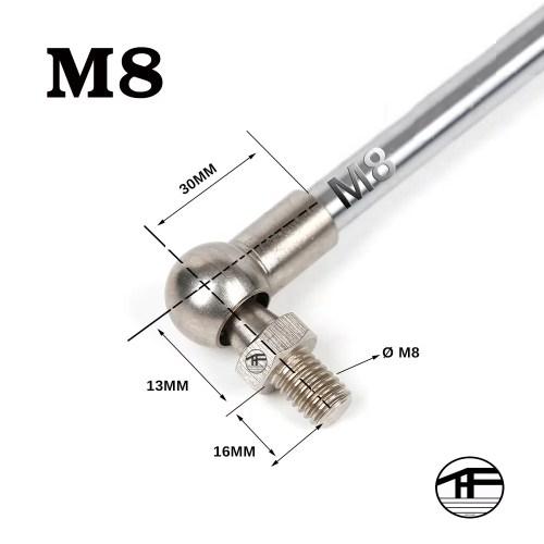Gasdruckfeder Zubehör M8