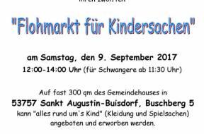 Kindersachenflohmarkt Herbst 2017 Plakat