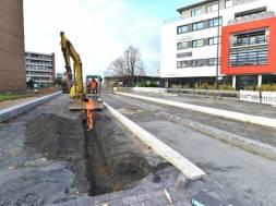 Rathausvorplatz Bauarbeiten Nov 2017