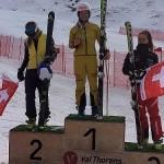 Nina Kloe Siegerehrung Europacup Sieg_