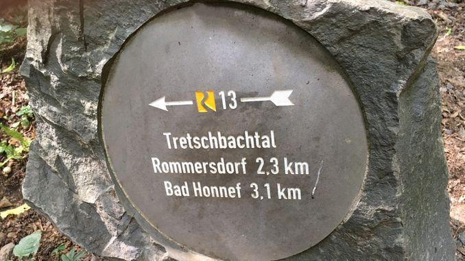 Siebengebirge Natur, Wegweiser ins Tretschbachtal