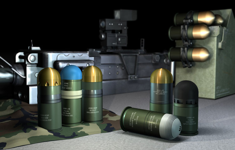 rheinmetall defence 40mm ammunition