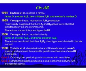 Yes: Blood type AB can have type O offspring … and vice versa!
