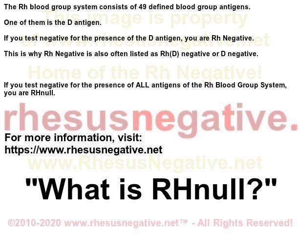 Rh- vs. Rh null Whatisrhnull